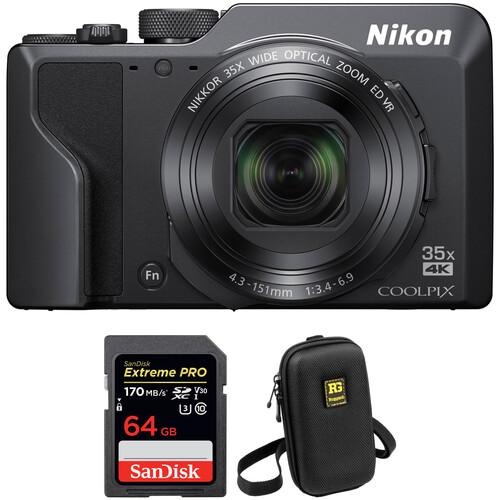 Nikon COOLPIX A1000 Digital Camera with Accessories Kit