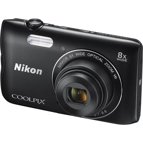Nikon COOLPIX A300 Digital Camera Deluxe Kit (Black)