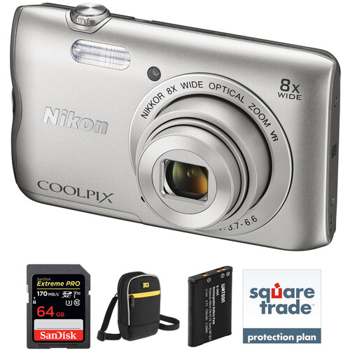 Nikon COOLPIX A300 Digital Camera Deluxe Kit