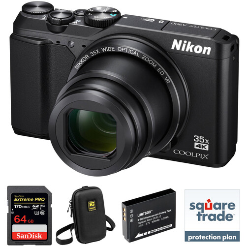 Nikon COOLPIX A900 Digital Camera Deluxe Kit (Black)