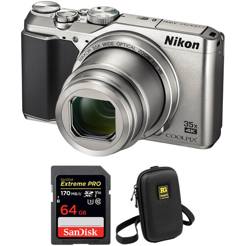 Nikon COOLPIX A900 Digital Camera with Free Accessory Kit (Silver)