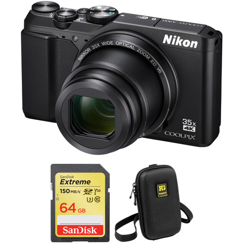 Nikon COOLPIX A900 Digital Camera Basic Kit (Black, Refurbished)