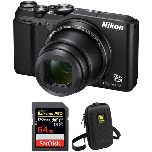 Nikon COOLPIX A900 Digital Camera with Free Accessory Kit (Black)