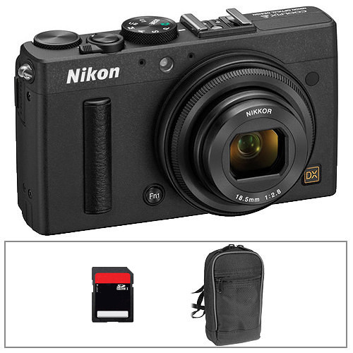 Nikon COOLPIX A Digital Camera Deluxe Kit (Black)