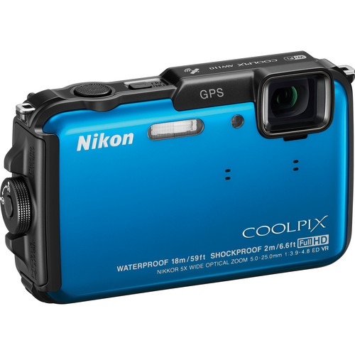 Nikon COOLPIX AW110 Digital Camera (Blue)