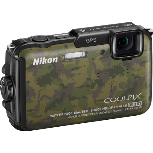 Nikon COOLPIX AW110 Digital Camera (Camouflage)