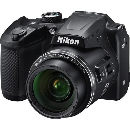 Nikon COOLPIX B500 Digital Camera Basic Kit (Black, Refurbished)
