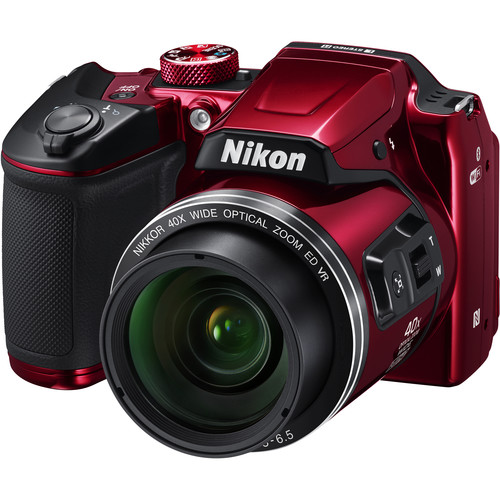 Nikon COOLPIX B500 Digital Camera Basic Kit (Red)