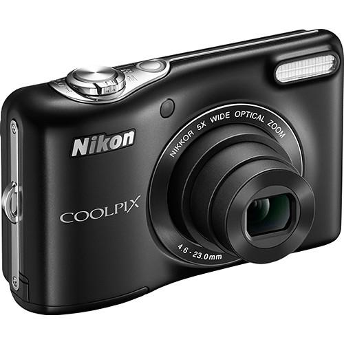 Nikon COOLPIX L32 Digital Camera Deluxe Kit (Black)