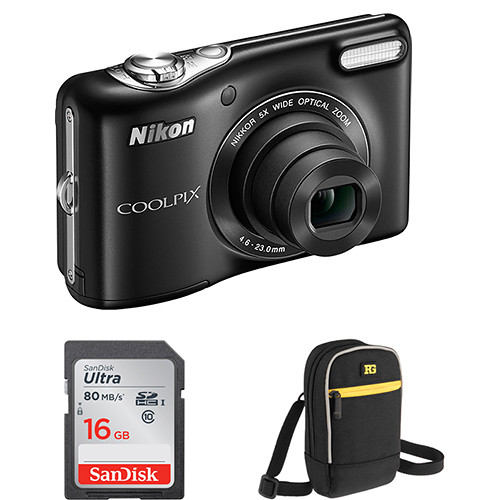 Nikon COOLPIX L32 Digital Camera Basic Kit (Black)