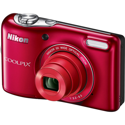 Nikon COOLPIX L32 Digital Camera Deluxe Kit (Red)
