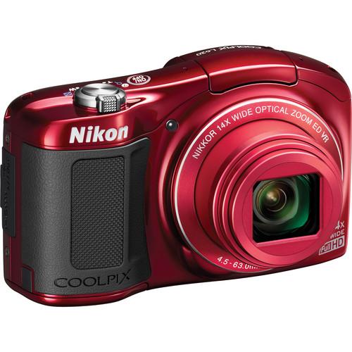 Nikon COOLPIX L620 Digital Camera (Red)