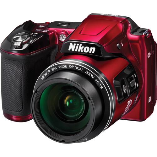 Nikon COOLPIX L840 Digital Camera Deluxe Kit (Red)