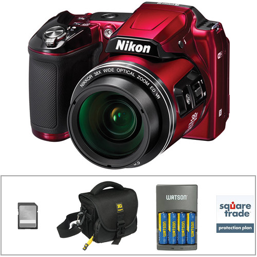 Nikon COOLPIX L840 Digital Camera Deluxe Kit (Red)