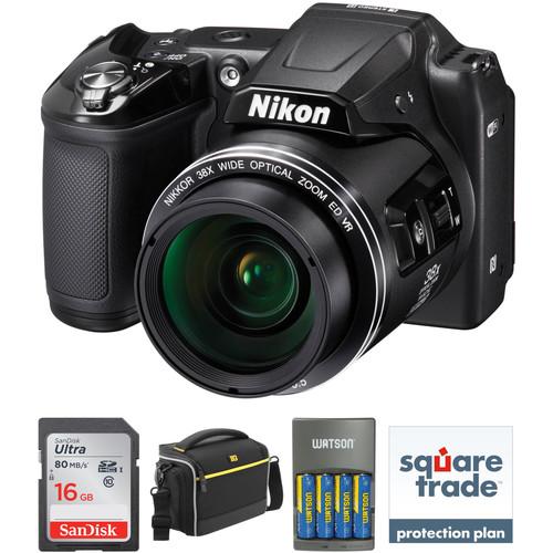 Nikon COOLPIX L840 Deluxe Digital Camera Kit (Black, Refurbished)
