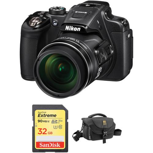 Nikon COOLPIX P610 Digital Camera Basic Kit (Black, Refurbished)