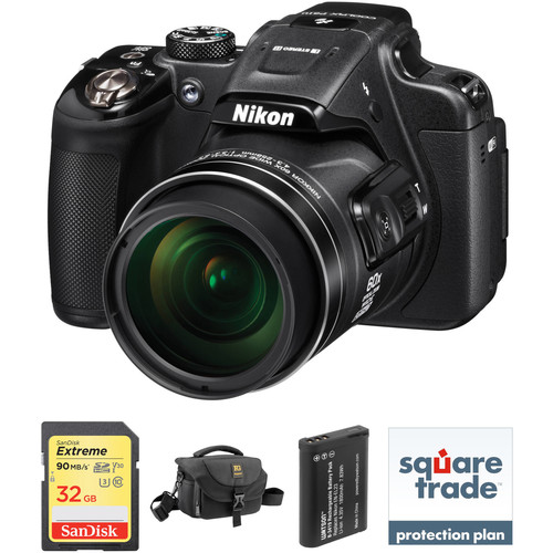 Nikon COOLPIX P610 Digital Camera Deluxe Kit (Black, Refurbished)