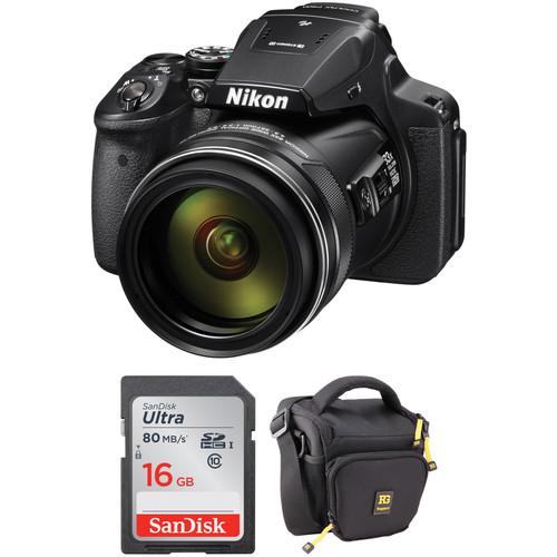 Nikon COOLPIX P900 Digital Camera Basic Kit (Refurbished)