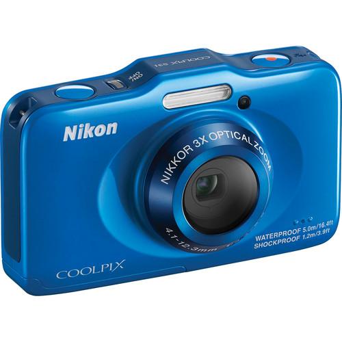 Nikon COOLPIX S31 Digital Camera (Blue)