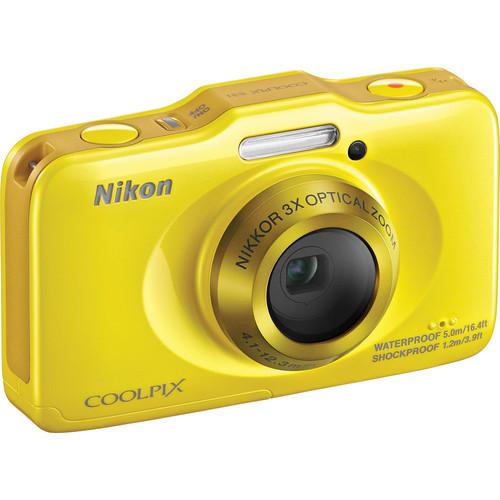 Nikon COOLPIX S31 Digital Camera (Yellow)
