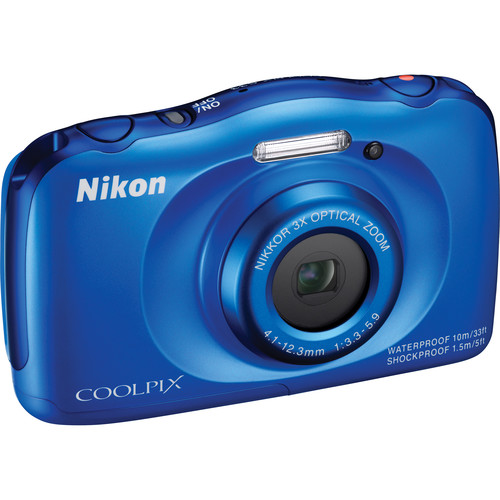 Nikon COOLPIX S33 Digital Camera Basic Kit (Blue)