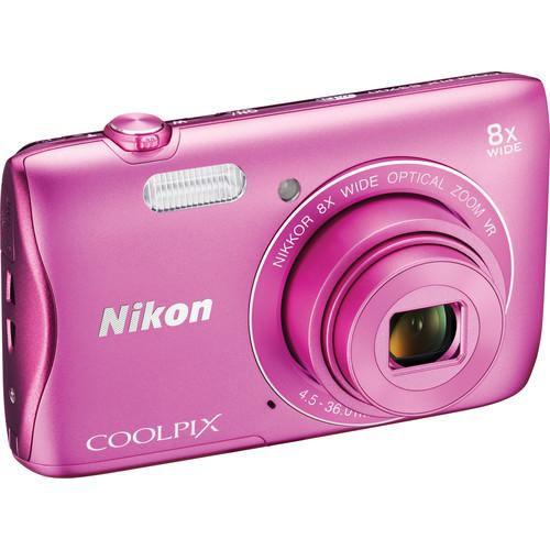 Nikon COOLPIX S3700 Digital Camera Basic Kit (Pink)