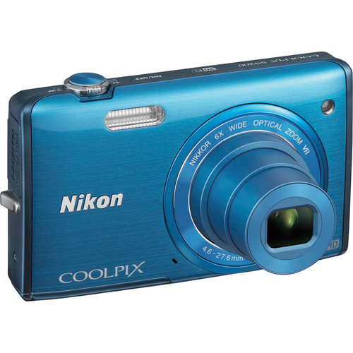 Nikon COOLPIX S5200 Digital Camera (Blue)