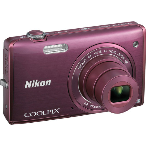 Nikon COOLPIX S5200 Digital Camera (Plum)