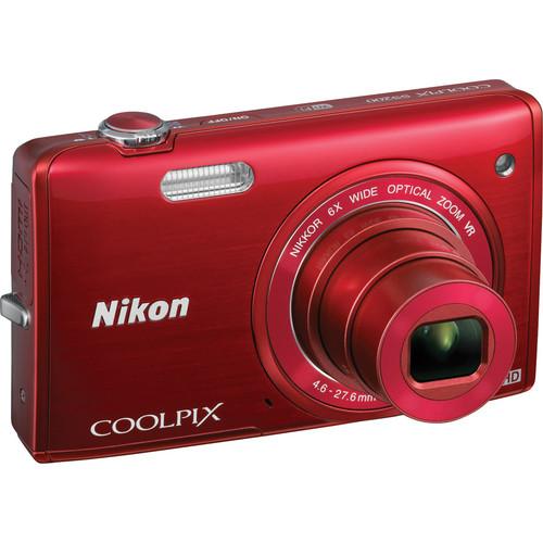 Nikon COOLPIX S5200 Digital Camera (Red)