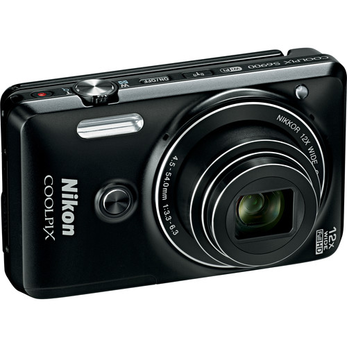 Nikon COOLPIX S6900 Digital Camera Basic Kit (Black, Refurbished)