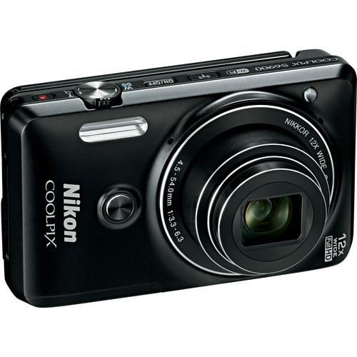Nikon COOLPIX S6900 Digital Camera Deluxe Kit (Black, Refurbished)