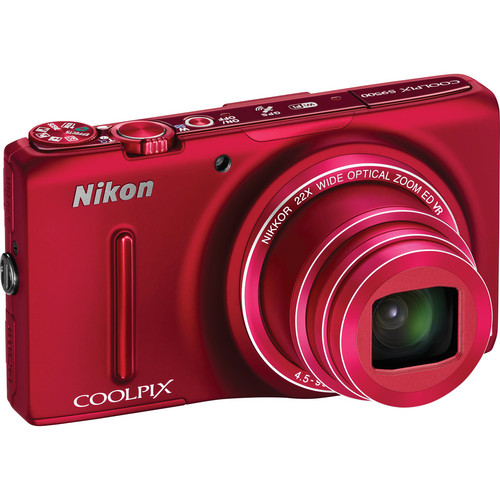 Nikon COOLPIX S9500 Digital Camera (Red)