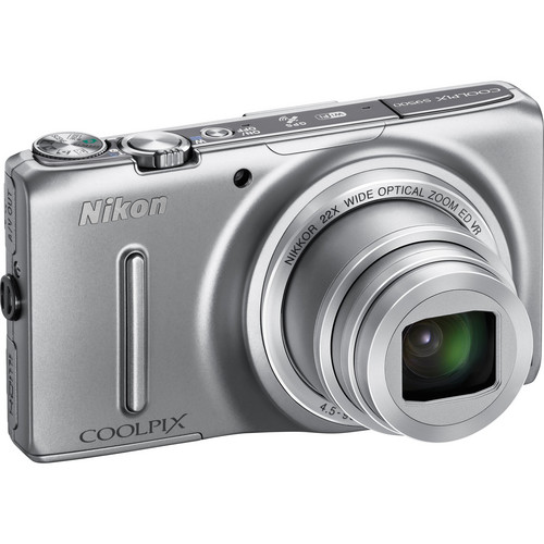 Nikon COOLPIX S9500 Digital Camera (Silver)
