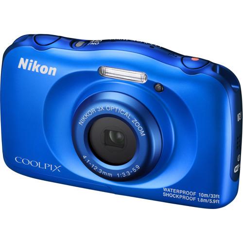 Nikon COOLPIX W100 Digital Camera Basic Kit (Blue)