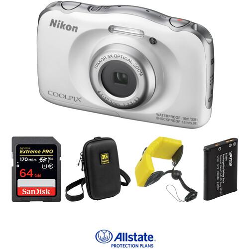 Nikon COOLPIX W100 Digital Camera Deluxe Kit (White)