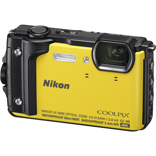 Nikon COOLPIX W300 Digital Camera Basic Kit (Yellow)