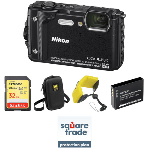Nikon COOLPIX W300 Digital Camera Deluxe Kit (Black)