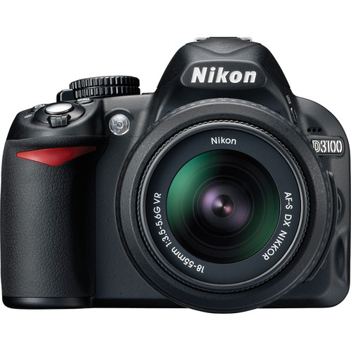 Nikon D3100 Digital SLR Camera w/18-55mm VR Lens and Basic Accessory Kit