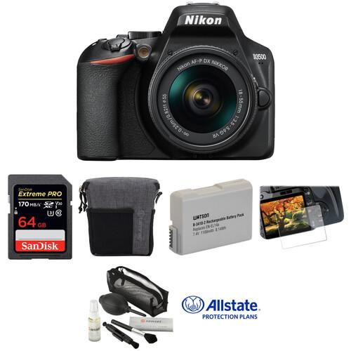 Nikon D3500 DSLR Camera with 18-55mm Lens Deluxe Kit