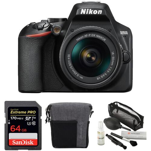 Nikon D3500 DSLR Camera with 18-55mm Lens Basic Kit