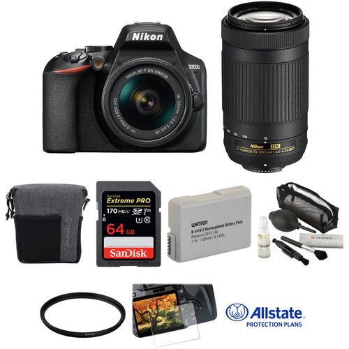 Nikon D3500 DSLR Camera with 18-55mm and 70-300mm Lenses Deluxe Kit