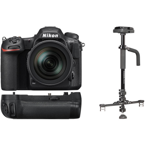 Nikon D500 DSLR Camera and 16-80mm Lens with Stabilizer Kit