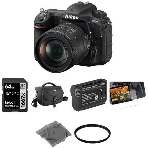Nikon D500 DSLR Camera with 16-80mm Lens Basic Kit