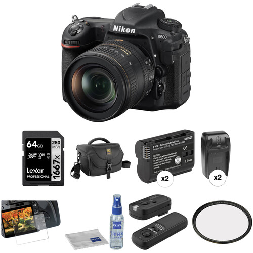 Nikon D500 DSLR Camera with 16-80mm Lens Deluxe Kit
