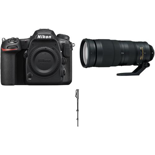 Nikon D500 DSLR Camera with 200-500mm Lens Sports Kit