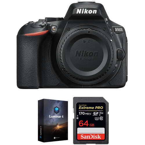 Nikon D5600 DSLR Camera Body with Software Kit