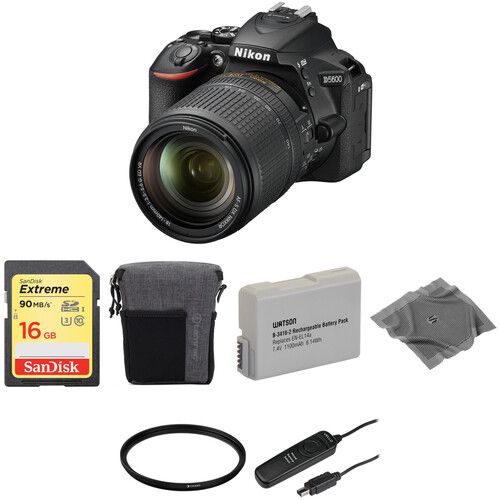 Nikon D5600 DSLR Camera with 18-140mm Lens Basic Kit