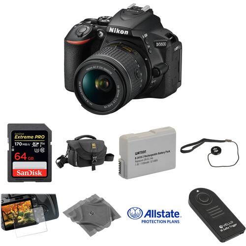 Nikon D5600 DSLR Camera with 18-55mm Lens Deluxe Kit
