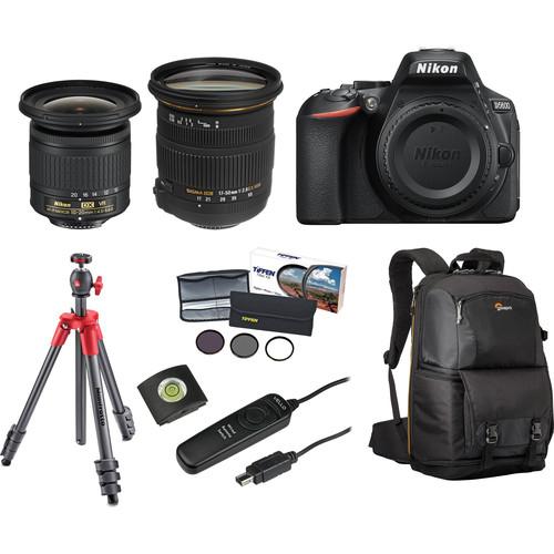 Nikon D5600 DSLR Camera with 10-20mm and 17-50mm Lenses Landscape Kit