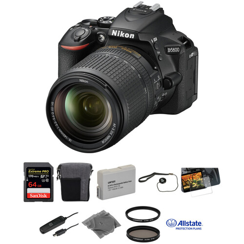 Nikon D5600 DSLR Camera with 18-140mm Lens Deluxe Kit
